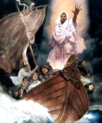 jesus en la barca