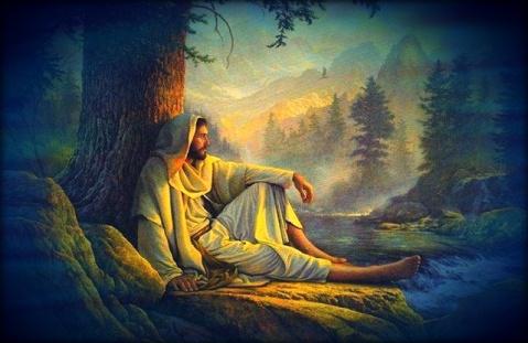 Jesus descansando